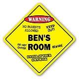 BEN'S ROOM Sticker Sign kids bedroom decor door children's name boy girl gift - Sticker Graphic Personalized Custom Sticker Graphic