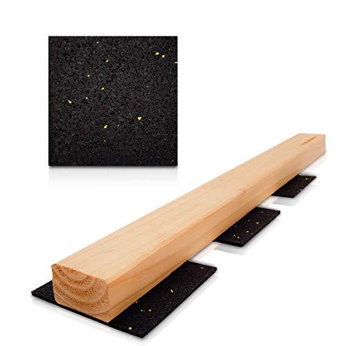 Lot de 100 3 mm terrassenpad – 90 x 90 mm terrassenpads, Pads, terrasses de la construction en granulés de caoutchouc