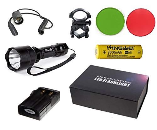 Linterna Trustfire C8-1 Led kit 1300 lm CREE XML-T6 (Kit Nº3 (Kit completo de linterna))