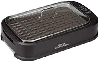 Smokeless Indoor Electric Grill With Tempered Lid & Interchangeable Griddle Plate