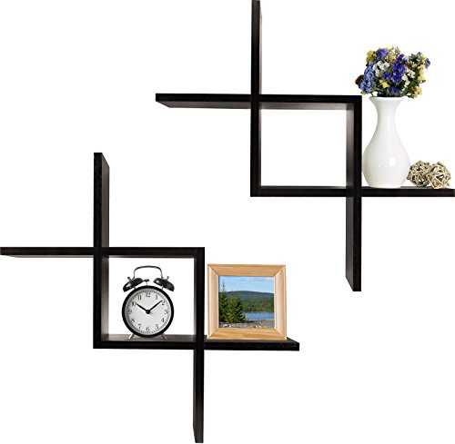 Intersecting Wall Mounted Floating Shelves
