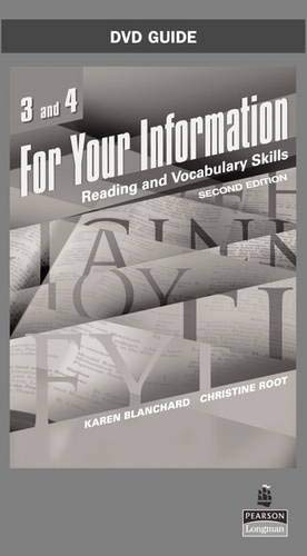 For Your Information Reading and Vocabulary Skills, Levels 3 and 4