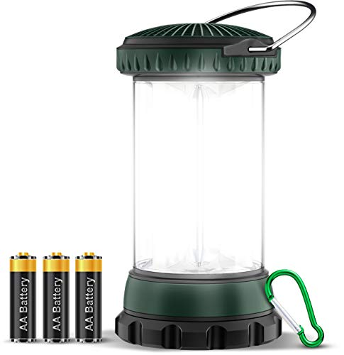 Cocoda Luz Camping, Linterna Camping LED con Pilas con 4 Modos de Luz, Lampara Camping Portátiles a Prueba de Agua IPX4 para Huracanes, Tormentas, Emergencias, Exteriores, Senderismo, Pesca