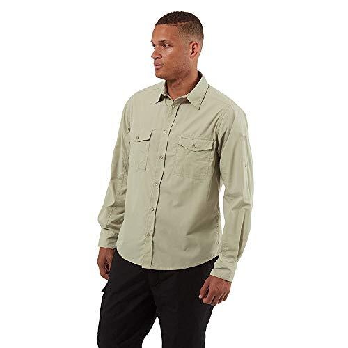 Craghoppers Kiwi LS Shirt Maglietta da Escursionismo, Farina d'avena, S Uomo
