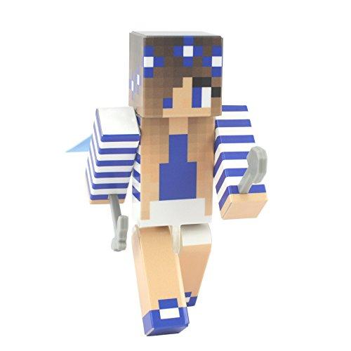 EnderToys Blue Flower Girl Action Figure Toy, 4 Inch Custom Series Figurines