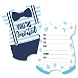 It's a Boy - Shaped Fill-in Invitations - Blue Baby Shower Invitation Cards with Envelopes - Set of 12