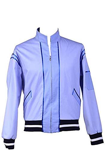 Harrypetter Wilbur Walsh Kostüm Herren Halloween Film Cosplay Polizei Uniform Jumbo Jacke Mantel Blau Gr. XXX-Large, blau