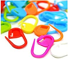 100PC Mix Color Knitting Stitch Counter Crochet Locking Stitch Markers Stitch Needle Clip Knitting Crochet Markers