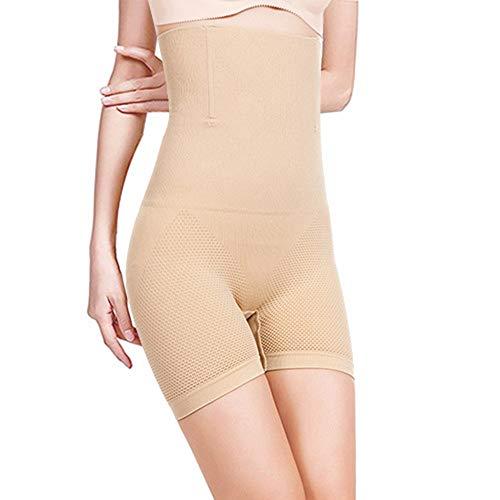 HONYAO Fajas Reductora Adelgazante Pantalones Moldeadora Braguita Mujer Shapewear Body Moldeador Deport Fiteness Abdomen Comodo Transpirable (Beige,Large)