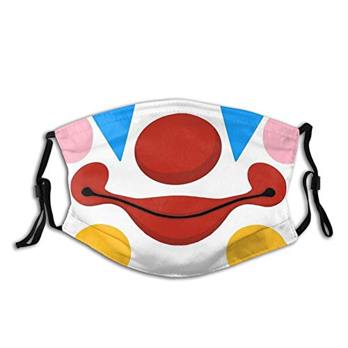 MOMEPE Cute Funny April Fools Day Clown Mouth- Face Mask Scarf, Breathable Washable Fashion Balaclavas with 2 Filters, for Men & Women Adult