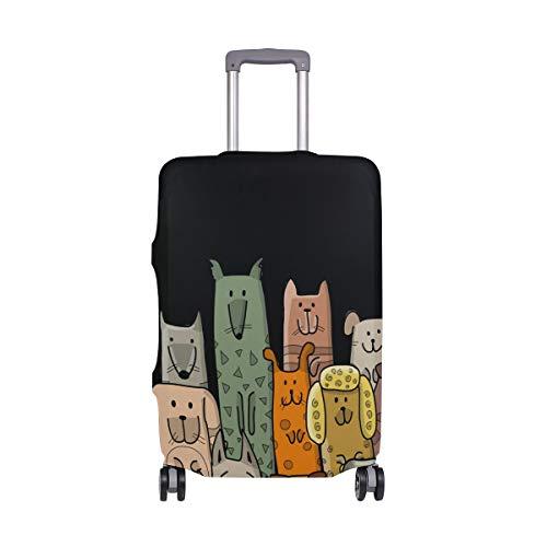 My Daily Funny Dogs - Funda de equipaje para maleta de viaje de 45 a 32 pulgadas, con protector de equipaje de viaje