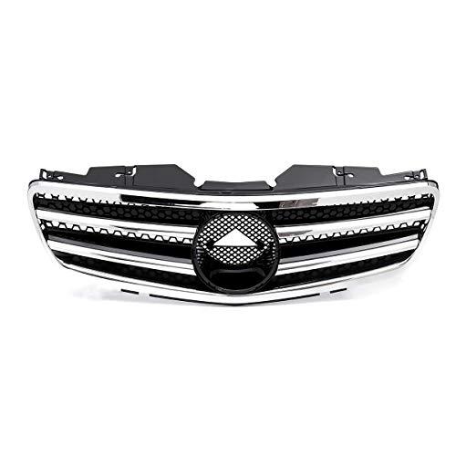 YRRC-ZTAuto Frontgrill Grill,Chrom Silber Für Mercedes Für Benz Sl Klasse R230 Sl500 Sl550 Sl600 2003 2004 2005 2006