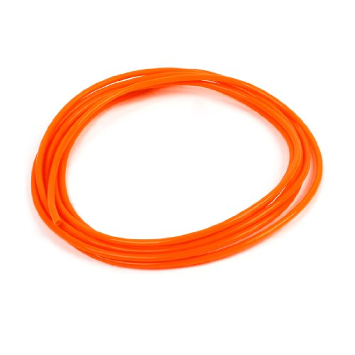sourcing map Naranja 4 mm diámetro 2,5 mm ID 3 Meter PU Air tubo neumático