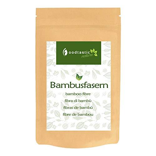 Foodtastic Bambusfasern 600g | Hoher Ballaststoffgehalt und sehr kohlenhydratarm | Bambusfasermehl, glutenfrei und ohne Allergene