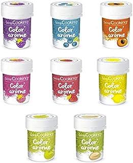 Kit 8 Colorants alimentaires aux Arômes de fruits