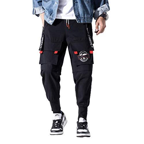 N-B Taschen Fracht Harem Hosen Herren Casual Jogger Baggy Tactical Hosen Harajuku Streetwear Hip Hop Mode
