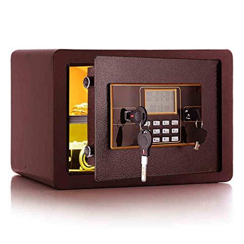 Casseforti Display LCD sicuro Installazione fissa sicura elettronica a doppio strato Rosso vino 35 * 25 * 30cm Safe