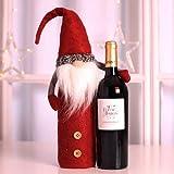 WZhen Bolsa De Botella De Vino De Navidad Botella Botella Set Decoración - Rojo 1 Juego