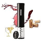 電動ワインオープナー 自動栓抜き ワインオープナー コルク抜き 栓抜き 簡単 ホイルカッター付き 電池式軽量 Lazysong