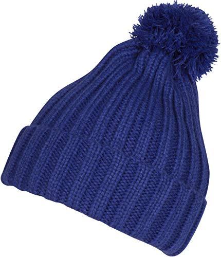 Sakkas CADK1518 Makena Unisex Pom Pom Einfarbig Winter-Beanie Kappe - Strandschnecke - One Size Regular