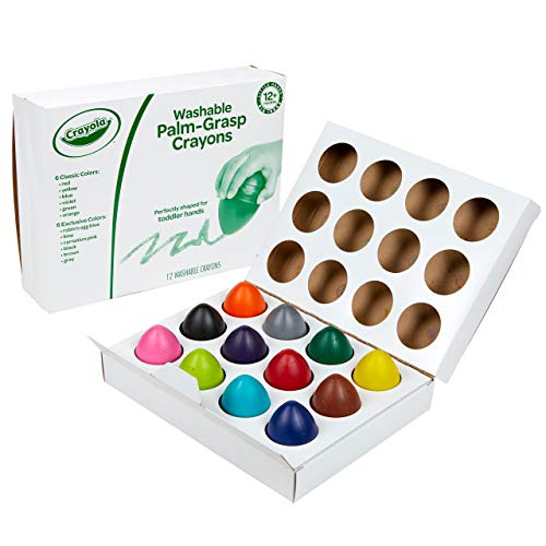 Crayola Palm Grasp Crayons, Egg Crayons, Gift for Toddlers, 12 Count
