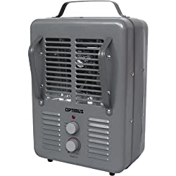 in budget affordable Portable heater with thermostat Optimus, gray