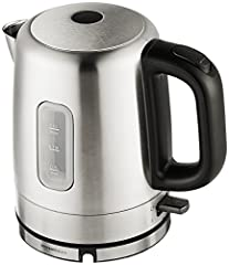 Electric water kettle with 1.0-liter capacity and 1500 watts of power for fast results (120V-60Hz) Cordless design allows for easy filling and serving; Power base with 30-inch power cord for flexible placement, plus cord wrap for compact storage Conc...