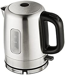 Amazon Basics Stainless Steel Portable Fast, Electric Hot Water Kettle for Tea and Coffee, 1 Liter,
