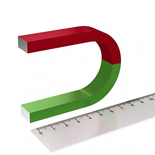 Hufeisenmagnet für Schulungen und Experimente - Hufeisen - Rot/Grün
