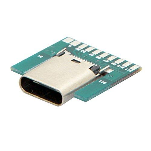 CY DIY 24pin USB 3.1 Typ C Buchse Adapterstecker SMT Typ mit PC-Platine