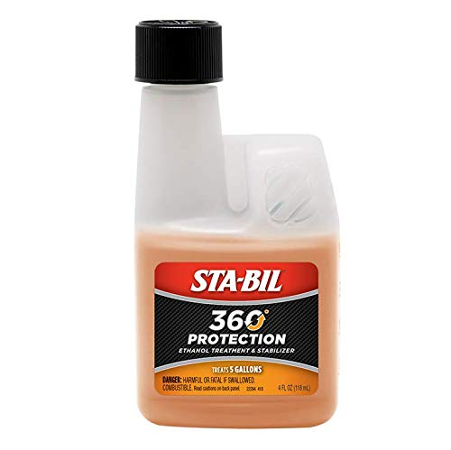 STA-BIL (22295 360 Protection Ethanol Treatment and Fuel Stabilizer - Prevents Corrosion - Prevents Ethanol Damage - Keeps Fuel Fresh for Up to 12 Months, 4 fl. oz.