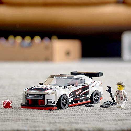 LEGO 76896 Speed Champions Nissan GT-R NISMO Racer Toy with Racing Driver Minifigure, Race Cars Building Sets