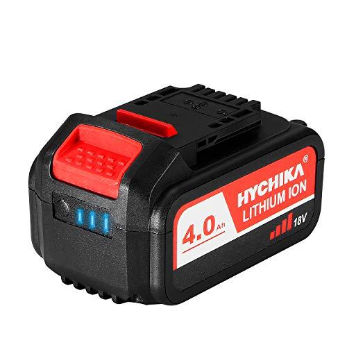 HYCHIKA Akku 4000mAh 18V, Lithium Batterie für HYCHIKA 18V Werkzeuge, Säbelsäge, Akku Schlagschrauber und Bürstenloser Akkuschrauber, NICHT für 18V Akkuschrauber DD-18BC