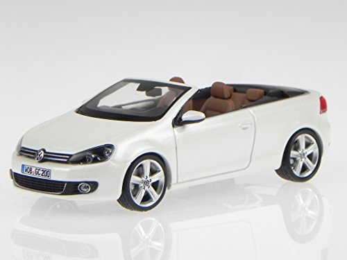 VW Golf 6 Cabrio onyx weiss perlmutt Modellauto Schuco 1:43