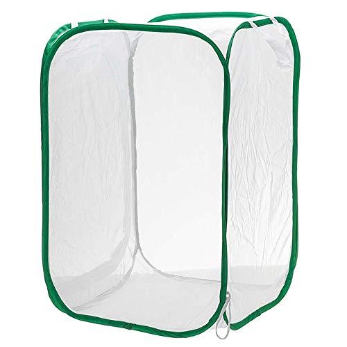 UXTX Gehäuse für Insekten-Habitat-Käfige, zusammenklappbares Insekten- und Schmetterlings-Habitat-Netz, Insekten-Beobachtungskäfig, Pop-up-Terrarium-Insekt, mit Reißverschluss-Design (L)