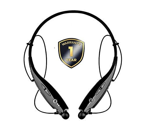 CLERBY HBS-730 Bluetooth Wireless Headphones Sport Stereo Headsets Hands-Free with Microphone and Neckband for Android and iOS Devices (Black)