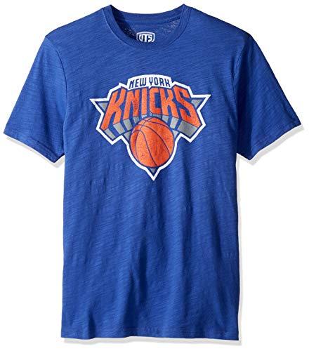 OTS NBA New York Knicks Men's Slub Tee, Distressed Logo, Medium