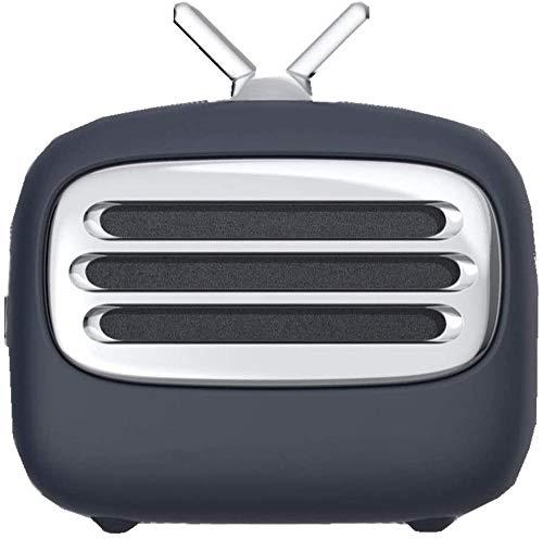 Altavoz Bluetooth para TV retro, simple, bonito, cómodo, creativo, altavoz inteligente, multifunción inalámbrico, alta calidad de sonido-negro