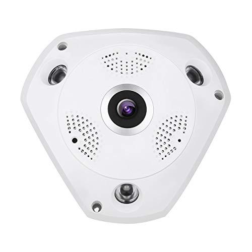 Panorama Kamera IP Kamera 360°, Dericam Überwachungskamera WLAN 3MP Full HD mit Fisheye Objektiv,...