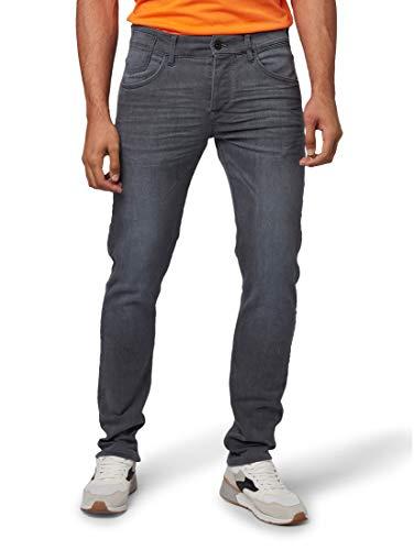 TOM TAILOR Herren Jeanshosen Troy Slim Jeans Grey Denim,33/32
