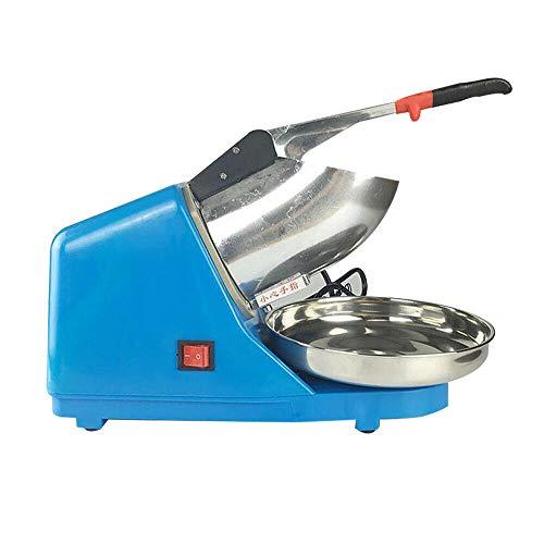 Futchoy Picadora de hielo eléctrica de acero inoxidable, 220 V, 65 kg/h, color azul