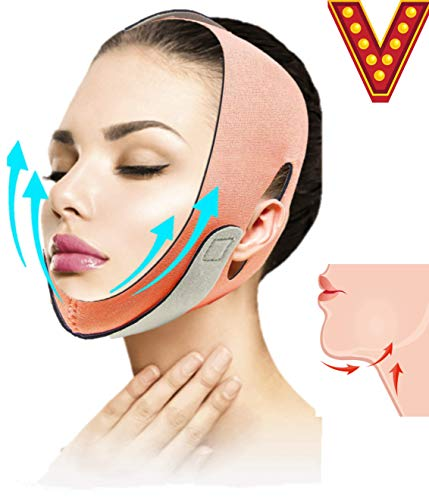 Premium Double Chin Reducer strap, Face Lifting Belt, Chin Strap and Lifter for Double Chin, Face Slimmer and Jawline Shaper, Face Slimming Strap, v line lifting, Double Chin Eliminator, Face Shaper