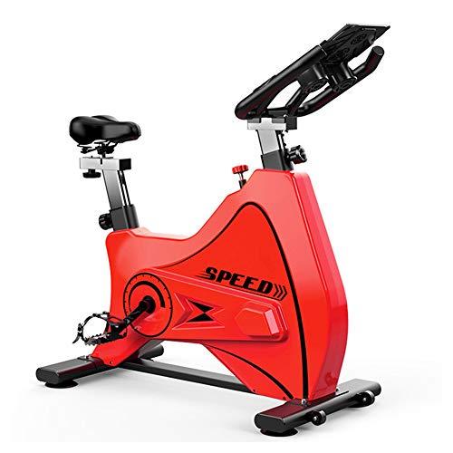 Bicicleta Spinning Profesional,Indoor Cycling Electromagnético Aplicación Inteligente,Resistencia Variable Bicicleta Estatica Ejercicio Aerobico Con Estante Multifuncional Capacidad de Carga 150KG,Red
