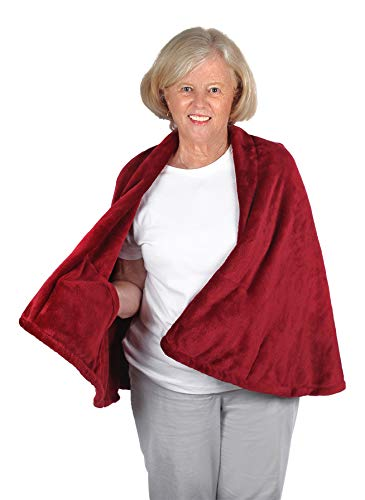 Granny Jo Products Damen Cape Fleece-Jacke, Merlot, Small-Medium