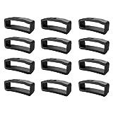 DIPOLA 12xRubber Fasten Rings Reemplazo de Bucle de Seguridad para Fenix5X / 5X Plus/Fenix 3—Negro