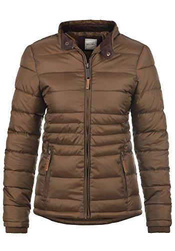 Blend SHE Cora Damen Übergangsjacke Steppjacke leichte Jacke gefüttert mit Stehkragen, Größe:L, Farbe:Brown (20021)