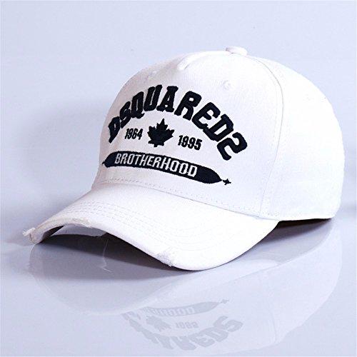 HYP@Baseball Cap/Baseballkappe/Trucker Cap/Trucker Hat/Golf Sport Outdoor Kappe Mütze CapCotton Cap Stickerei, Weiss, einstellbar