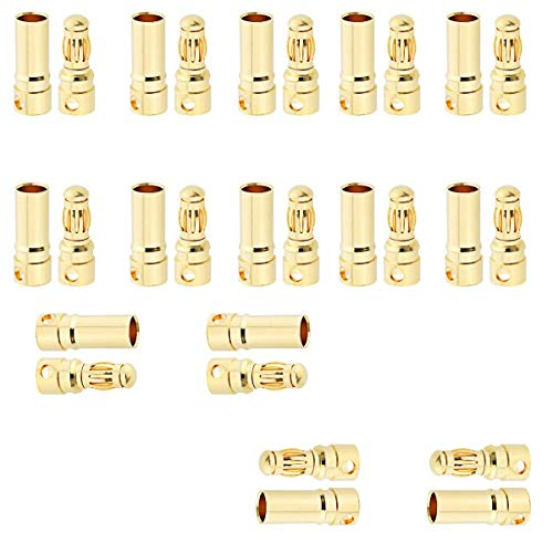 Padarsey 50 Pair Female Male 3.5mm Gold Bullet Banana Connectors RC ESC LIPO Battery Device Electric Motor Wire Parts