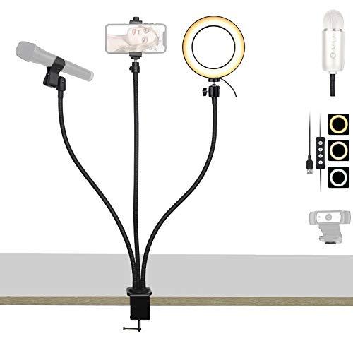 Support flexible pour webcam Logitech C270 C310 C270i longueur 64/cm support par ventouse magn/étique