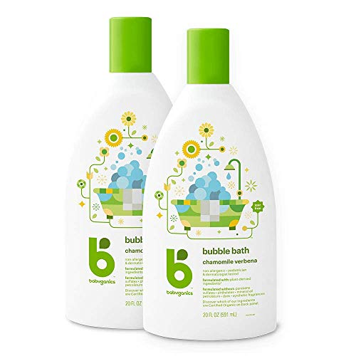 Babyganics Bubble Bath, Chamomile Verbena, 20oz, 2 Pack,...